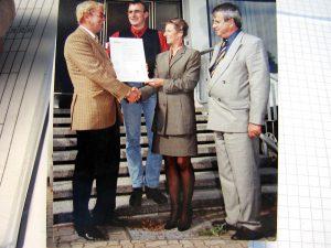 Zertifizierung nach DIN EN ISO 9002:94